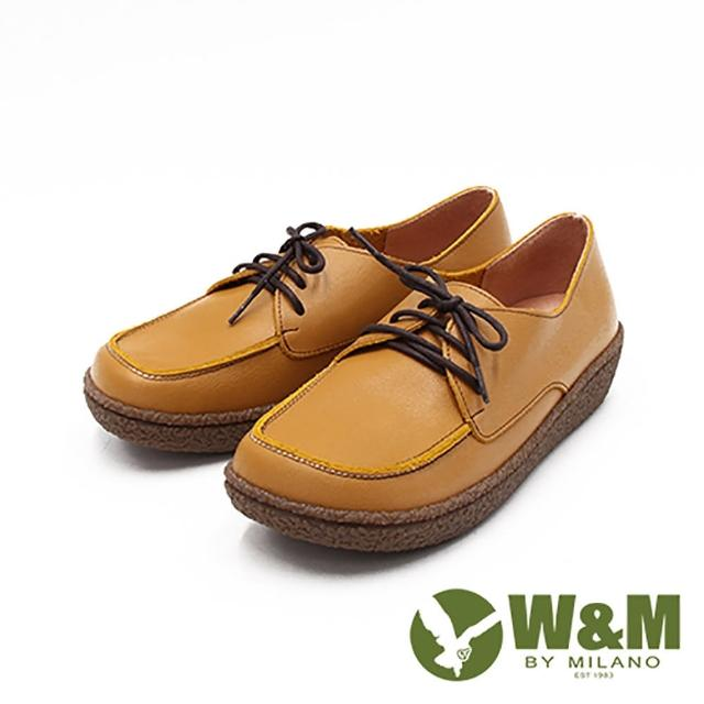 【W&M】女 大圓頭日系休閒 女鞋(萊姆黃)