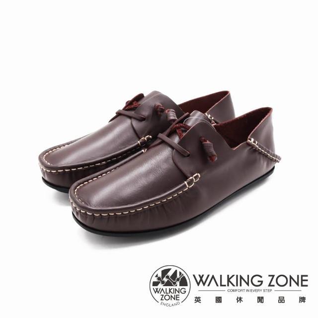 【WALKING ZONE】男 兩穿可踩式懶人休閒鞋 男鞋(咖啡)
