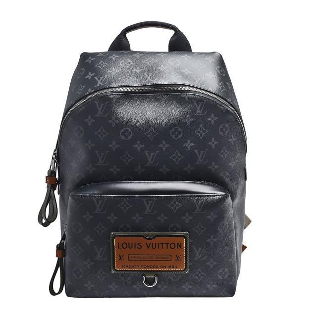 【Louis Vuitton 路易威登】M45218 限量版Discovery Eclipse帆布牛皮鑲飾拉鍊後背包