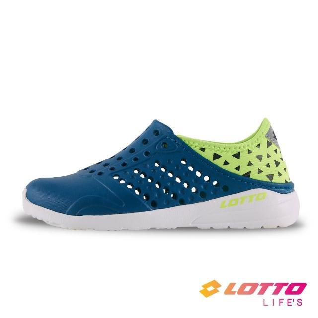 【LOTTO】童鞋 時尚洞洞鞋(墨綠-LT1AKS3635)