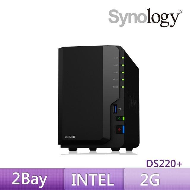 【搭APC 650VA離線式UPS+希捷 4TB x2】Synology 群暉科技 DS220+ 網路儲存伺服器