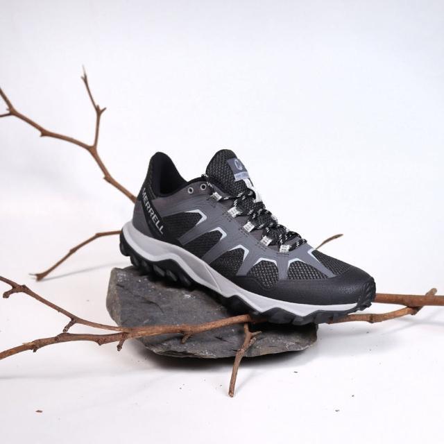 【MERRELL】戶外鞋 Fiery GTX 防水 男鞋 登山 越野 穩定 支撐 抗菌 防臭 黑 灰(ML16603)