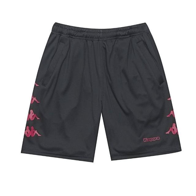 【KAPPA】義大利舒適吸溼排汗男針織半短褲(黑紅 32166YWD18)