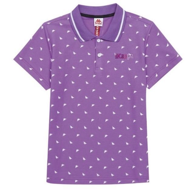 【KAPPA】義大利女吸濕排汗速乾女生POLO衫(粉紫34172VWXDC)