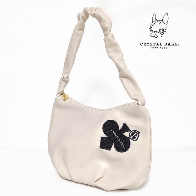 CRYSTAL BALL 狗頭包【CRYSTAL BALL 狗頭包】Crumply handle DIAMOND CLOVER bag時尚小包(狗頭包)
