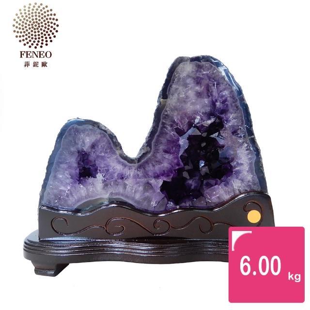 【菲鈮歐】開運招財天然巴西紫晶洞 6kg(SA-244)