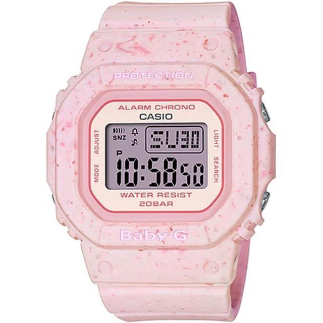 【CASIO 卡西歐】BABY-G 甜美草莓冰淇淋電子錶(BGD-560CR-4)
