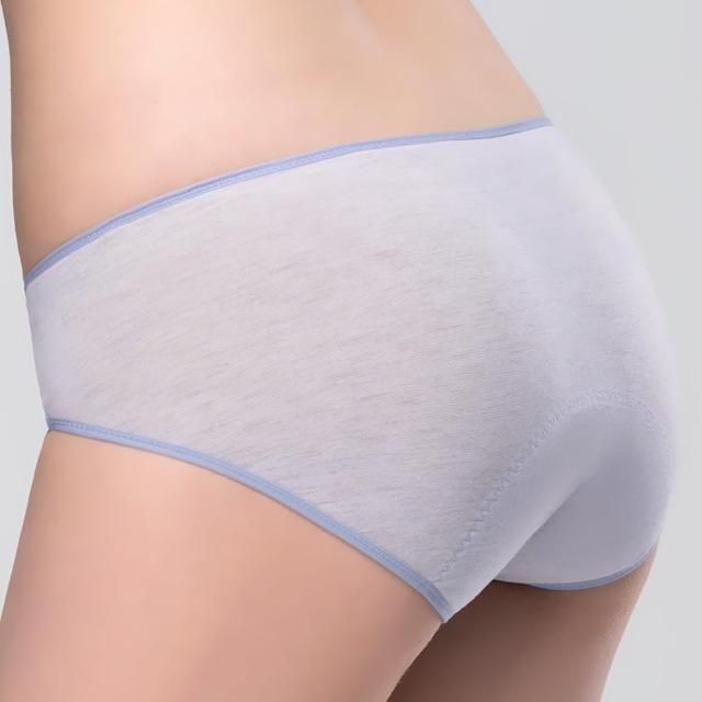 【Swear 思薇爾】花紗物語樂活風系列M-XXL素面中低腰日用型生理褲(淨悠紫)