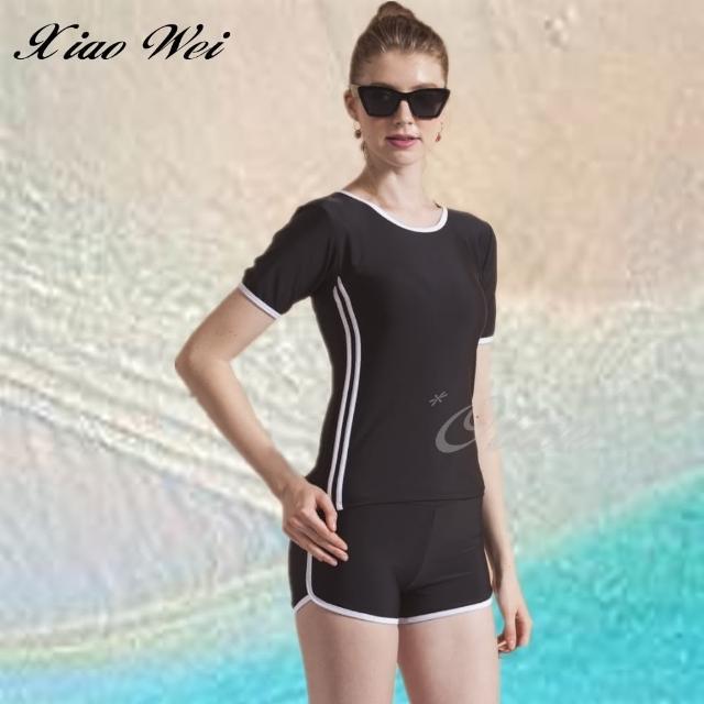 【小薇的店】泳之美 時尚二件式短袖泳裝(NO.282308)