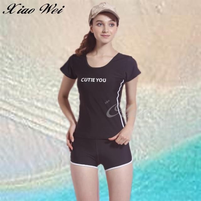 【小薇的店】泳之美 時尚二件式短袖泳裝(NO.282338)