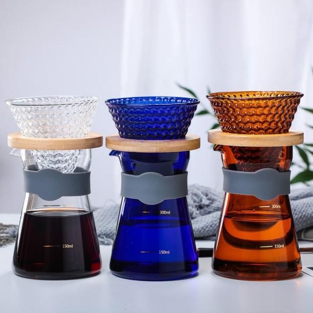 玻璃手沖咖啡壺濾杯套組 300ml