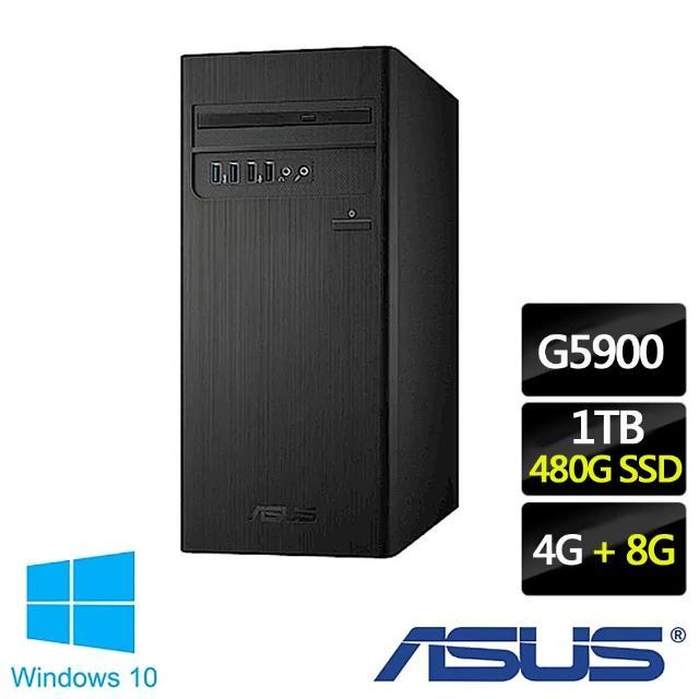 【ASUS 華碩】H-S300TA-0G5900040T 雙核文書電腦 特仕版(G5900/4G/1TB/Win10/+8G記憶體+480G SSD含安裝)