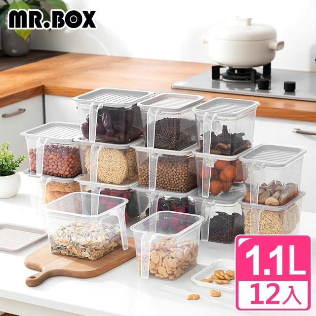 【Mr.Box】12入多功能食材配料冰箱保鮮盒/密封盒/收納盒(白色)