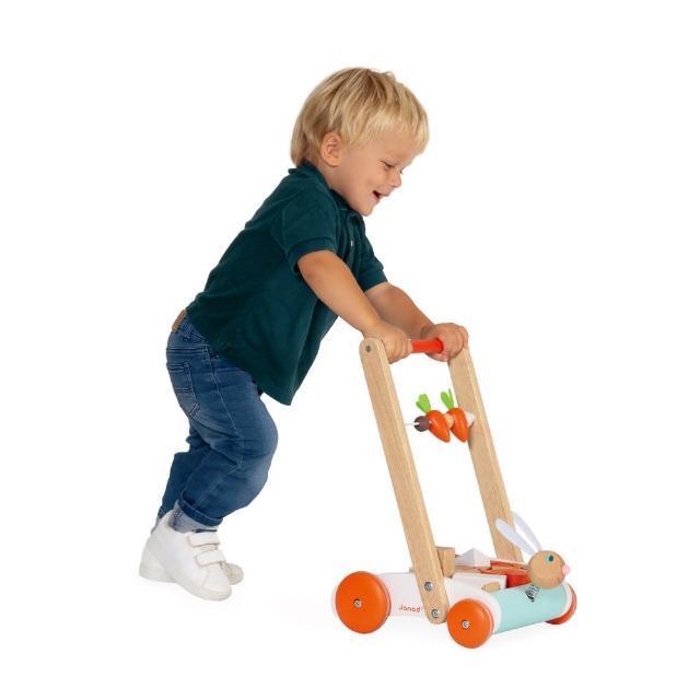 【法國Janod】平衡學步系列-蘿蔔兔學步推車