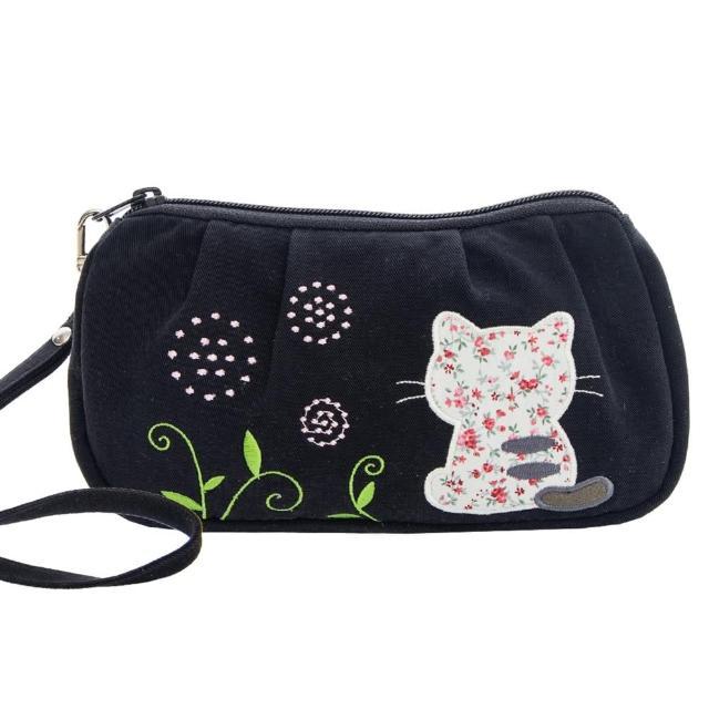 【KIRO 貓】背影貓 拉鍊 化妝包/盥洗包/小物收納包(820224)