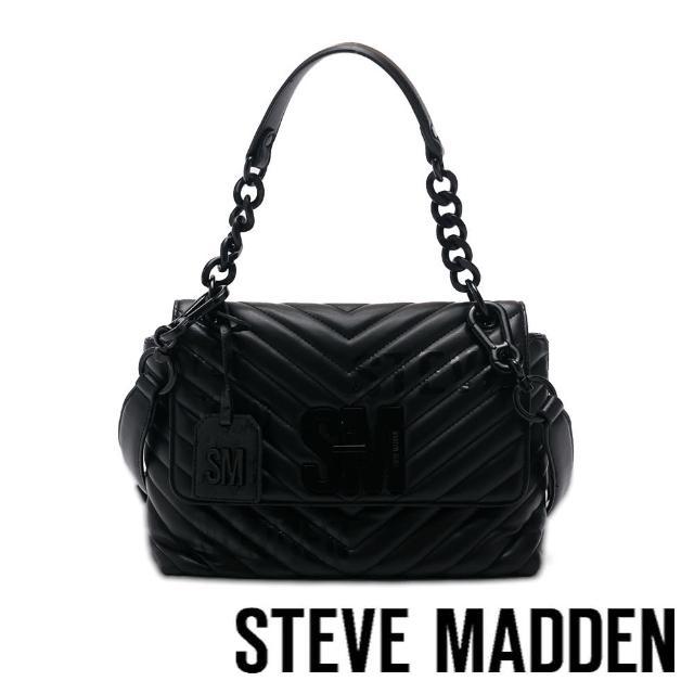 【STEVE MADDEN】BPATRINA 斜壓紋信封大包(黑色)