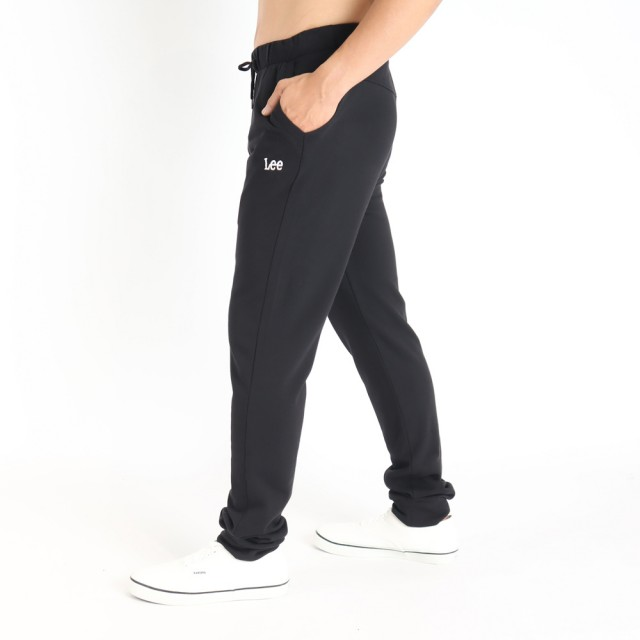 【Lee】薄款舒適 男運動針織休閒褲-氣質黑