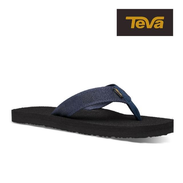 【TEVA】原廠貨 男 Mush II 經典織帶夾腳拖鞋/雨鞋/水鞋(牛仔黑-TV4168RDDN)
