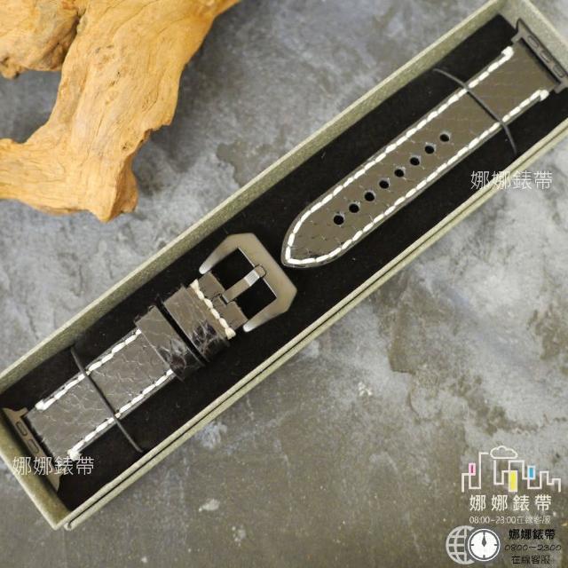 【娜娜錶帶】手工 真皮錶帶 蟒蛇皮錶帶 apple watch 6代 5代 六代 SE 44mm 40mm 42mm(蟒蛇皮)