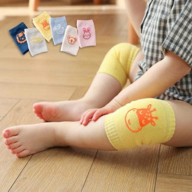 【橘魔法】(6色組)純棉防滑動物膠印多功能護膝袖套(嬰兒襪套 襪子 短襪 女童 男童 小童 新生兒 童裝)