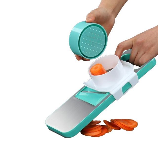 【PUSH!】廚房用品 防切手多功能切片切菜器刨絲器切絲(可薄切檸檬D127-1)