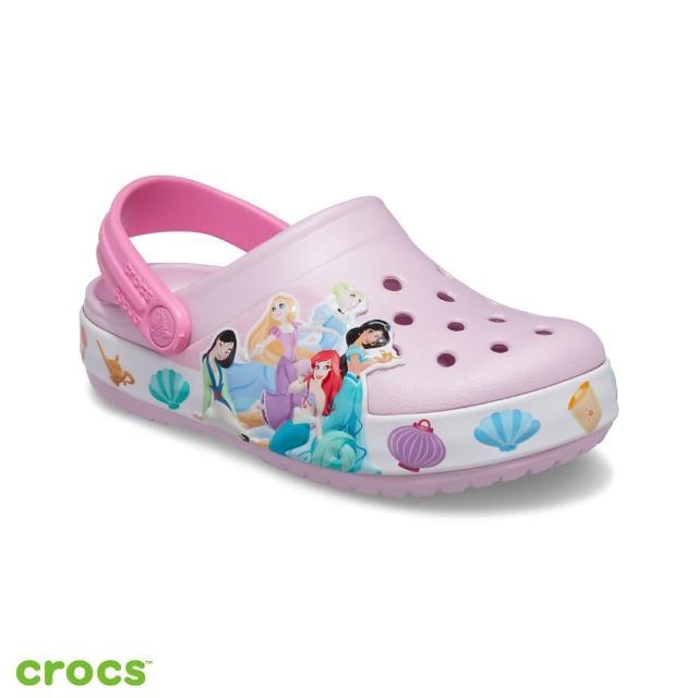 【Crocs】童鞋 迪士尼公主酷閃小克駱格(207076-6GD)