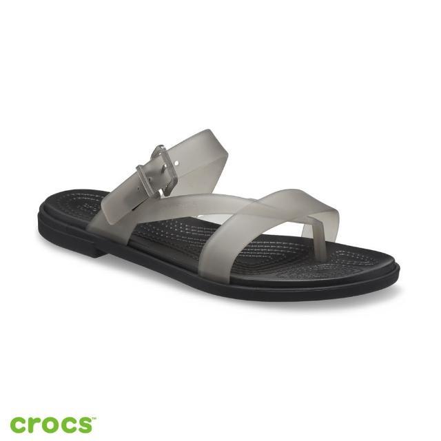 【Crocs】女鞋 特蘿透明度假風涼鞋(207173-001)