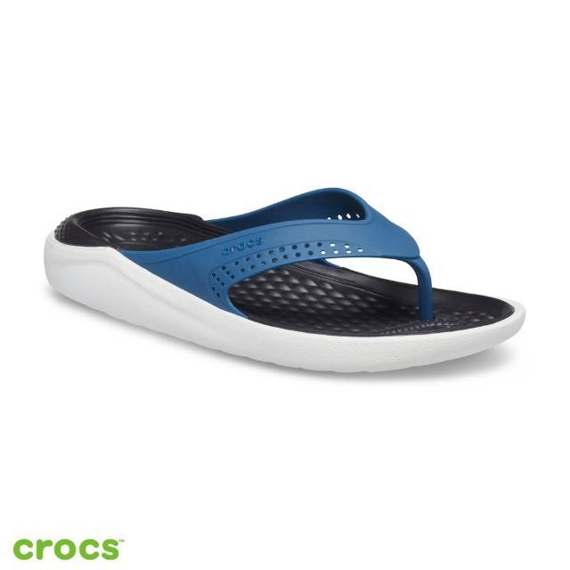 【Crocs】中性鞋 LiteRide人字拖(205182-4SB)
