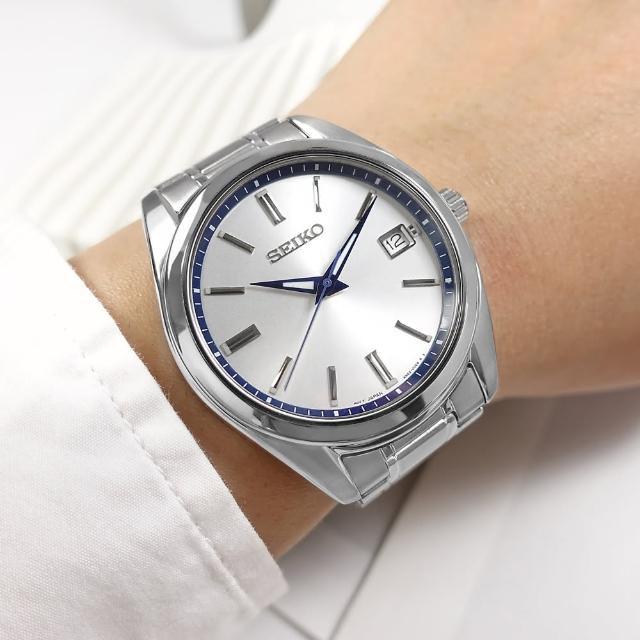 【SEIKO 精工】限量款 140週年 簡約時尚 日期 不鏽鋼手錶 銀白色 40mm(6N52-00E0S.SUR457P1)