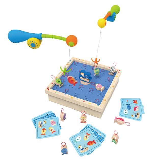 【JoyNa】益智玩具 木製釣魚記憶桌遊互動玩具 早教學習玩具