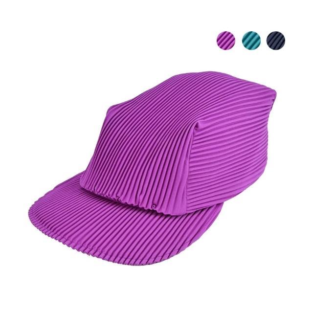 【ISSEY MIYAKE 三宅一生】PLEATS PLEASE褶紋鴨舌帽(任選)