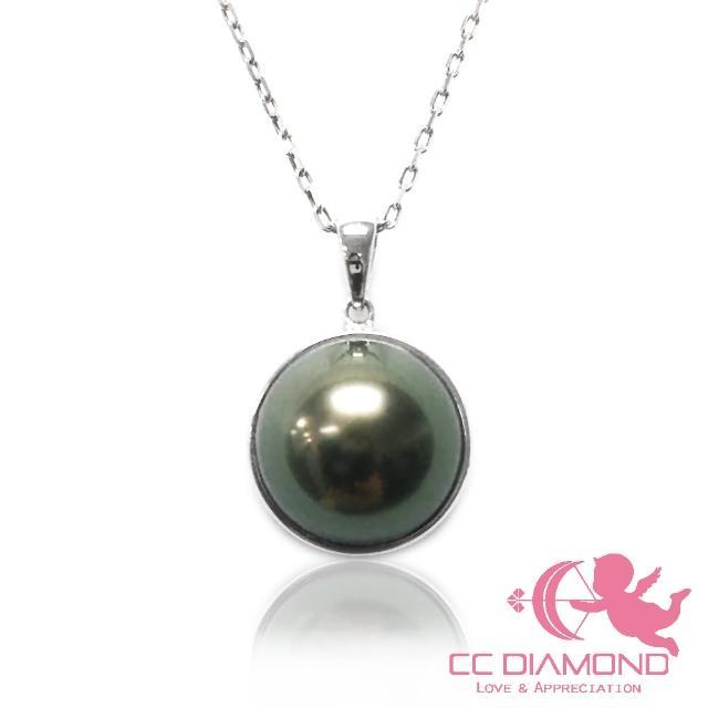 【CC Diamond】日本進口 18K 大溪地海水馬貝項鏈(無瑕極品孔雀綠)
