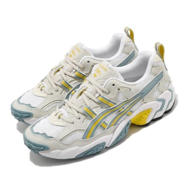 【asics 亞瑟士】休閒鞋 Gel-Nandi 老爹鞋 男鞋 亞瑟士 異材質拼接 穿搭推薦 亞瑟膠 白 藍 黃(1021A315101)