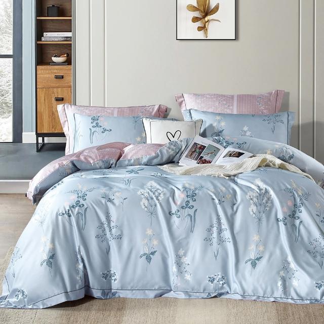 【DUYAN 竹漾】3M吸濕排汗天絲 兩件式枕套床包組 薇嵐之訪(單人)