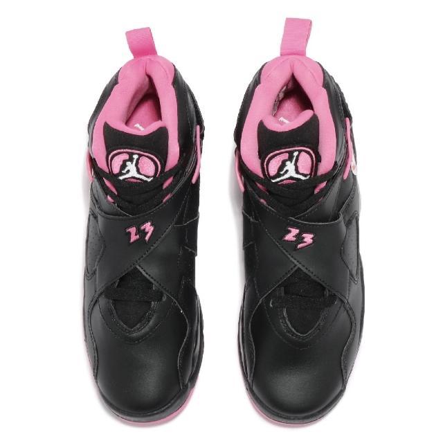【NIKE 耐吉】福利品 Air Jordan 8 Retro 女鞋 局部泛黃 經典款 喬丹8代 復刻 球鞋 黑 粉(580528006-~LR)