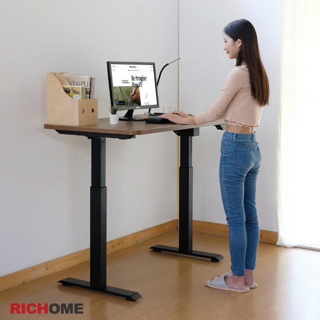 【RICHOME】WARRIOR智能120CM電動升降工作桌/辦公桌/電腦桌/主管桌/兒童成長桌/書桌(2色)