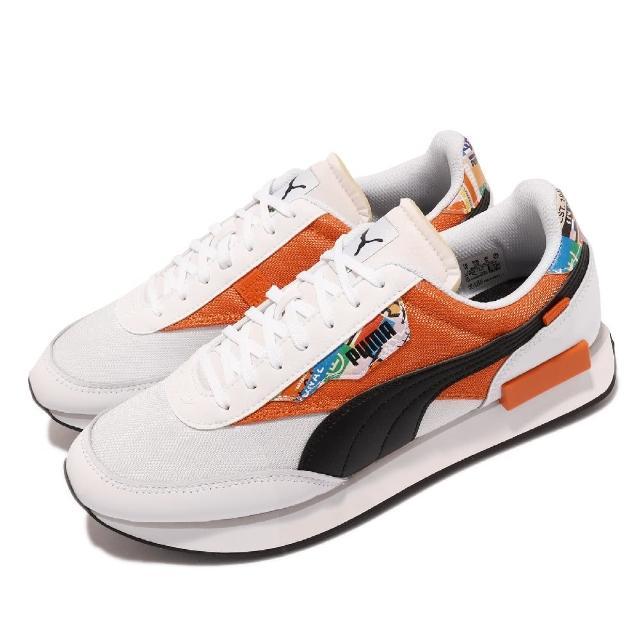 【PUMA】休閒鞋 Future Rider 男女鞋 緩震 網布 皮革 情侶鞋穿搭 白 橘(375971-01)