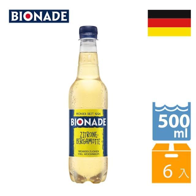 【Bionade 比奧納德】天然氣泡飲料-檸檬佛手柑口味 500mlx6入(德國原裝進口)