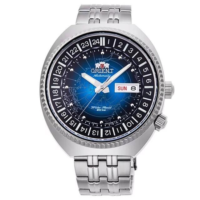 【ORIENT 東方錶】東方WORLD TIME 世界時間機械男錶(RA-AA0E03L)