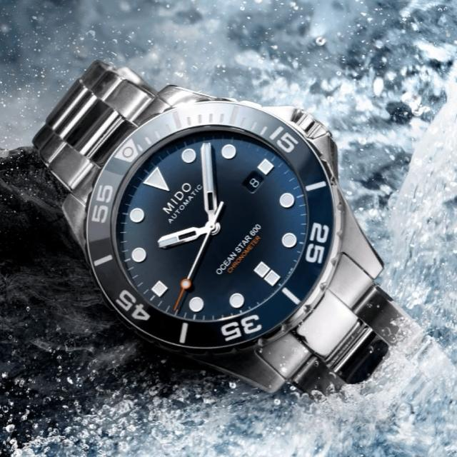 【MIDO 美度】OCEAN STAR 海洋之星 天文台認證600m潛水機械腕錶(M0266081104101)