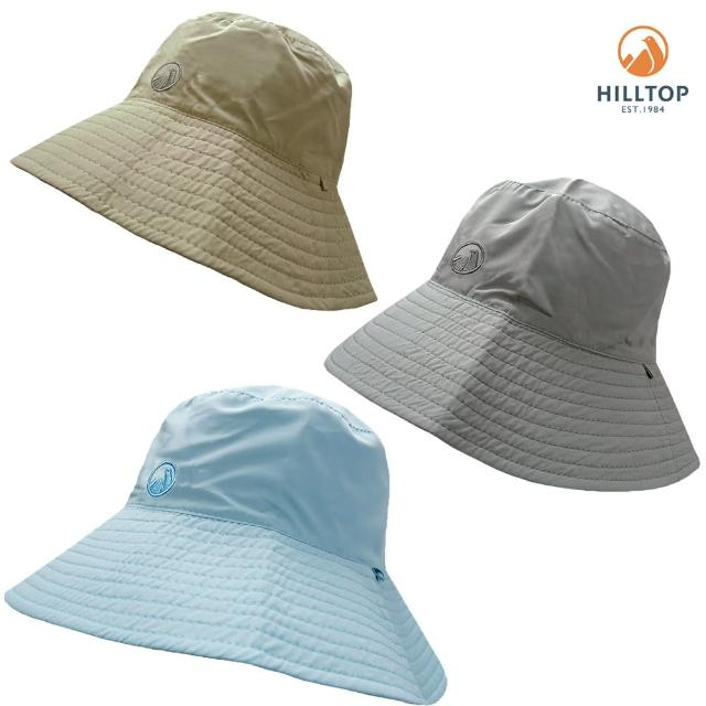 【Hilltop 山頂鳥】中性透氣快乾抗UV雙面帽子S01XF9(多色任選)