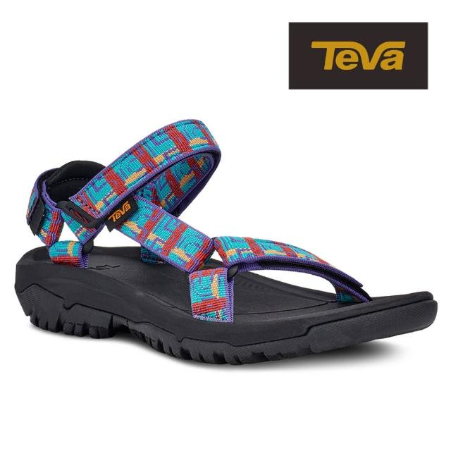 【TEVA】原廠貨 女 Hurricane XLT2 機能運動涼鞋/雨鞋/水鞋(圖騰大洋綠-TV1019235NCMT)