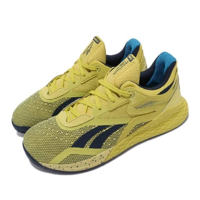 【REEBOK】訓練鞋 Nano X 健身房 運動 男鞋 海外限定 透氣 支撐 穩定 包覆 黃 藍(FW8128)