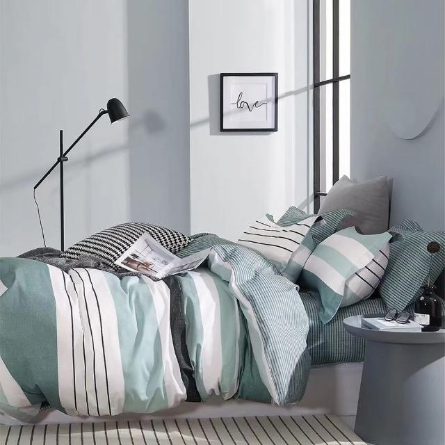 【情定巴黎】聖胡安 200織精梳純棉空調涼被床包組1+1超值組-一般/獨立筒皆適用(單人)