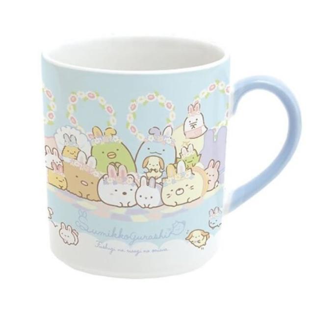 【小禮堂】角落生物 日製 陶瓷馬克杯 咖啡杯 茶杯 陶瓷杯 《藍 復活節》