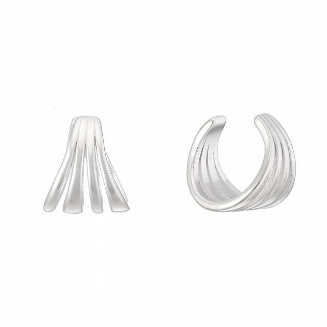 【Luciano Milano】壓紋純銀耳骨環(純銀)