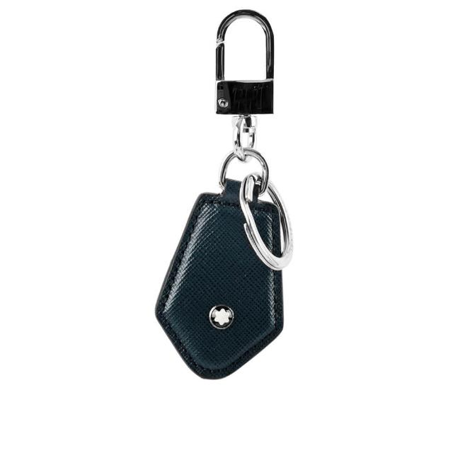 【MONTBLANC 萬寶龍】匠心系列鑽石型鑰匙扣(深藍色)