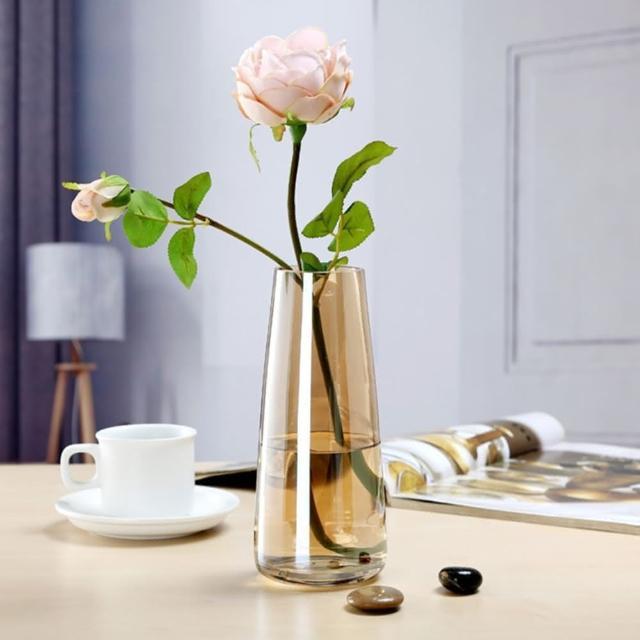 【JEN】北歐炫彩極光玻璃花瓶花器桌面擺飾居家裝飾高22.5cm
