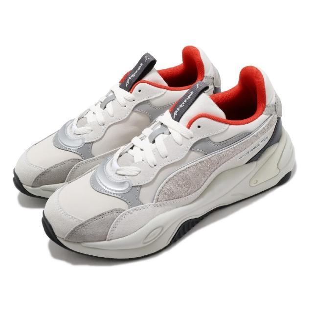 【PUMA】休閒鞋 RS-2K Attempt 聯名款 男女鞋 海外限定 異材質拼接 情侶穿搭 百搭 灰 銀(373516-01)