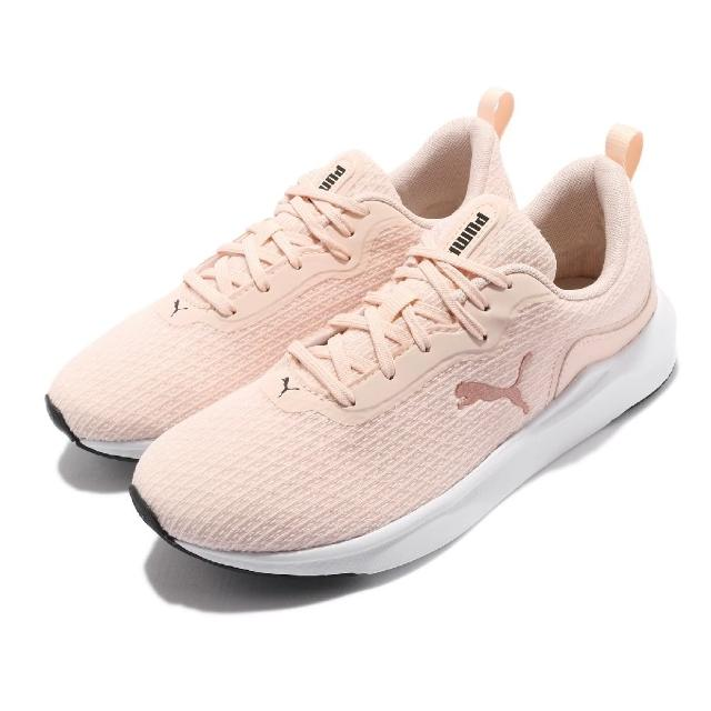【PUMA】慢跑鞋 Softride Finesse 女鞋 緩衝 舒適 Softfoam +記憶鞋墊 粉 白(195086-04)